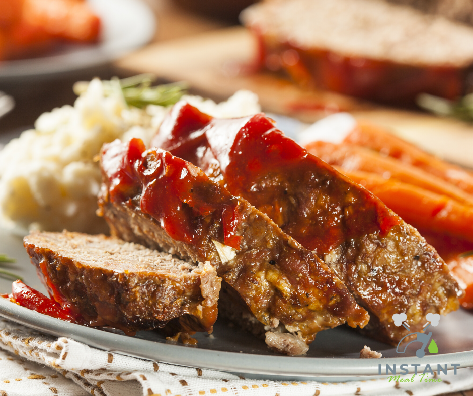 Lazy Instant Pot Meatloaf and Mashed Potatoes