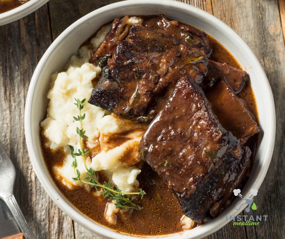 Instant Pot Short Ribs Braised In Red Wine